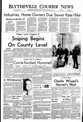 The Courier News from Blytheville, Arkansas on January 16, 1968 · Page 1