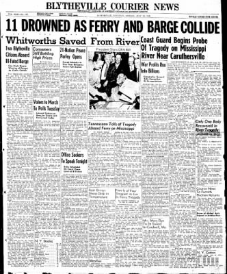 The Courier News from Blytheville, Arkansas on July 29, 1946 · Page 1