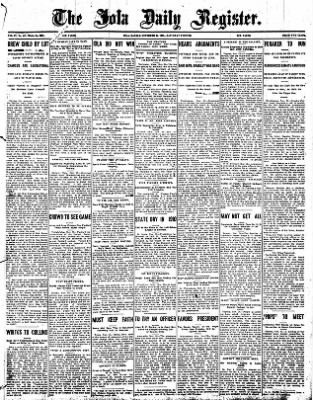 Iola Daily Register And Evening News from Iola, Kansas on November 30, 1907 · Page 1