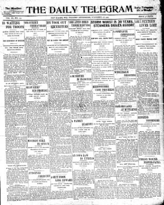 the daily telegram from eau claire wisconsin on november 28 1905  the daily telegram from eau claire wisconsin on november 28 1905 page 1