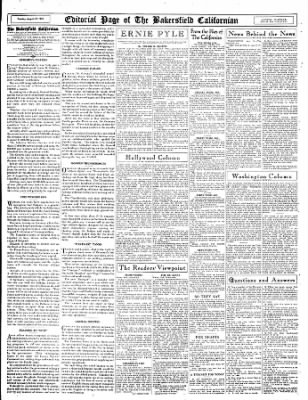 The Bakersfield Californian from Bakersfield, California on August 29, 1944 · Page 14