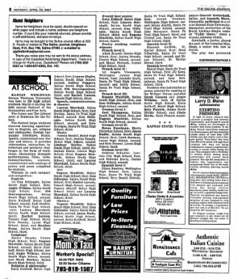 The Salina Journal from Salina, Kansas on April 23, 2001 · Page 21