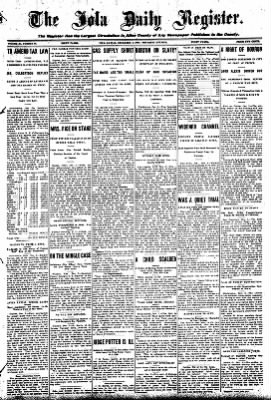 Iola Daily Register And Evening News from Iola, Kansas on December 3, 1908 · Page 1