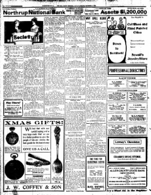 Iola Daily Register And Evening News from Iola, Kansas on December 9, 1907 · Page 2
