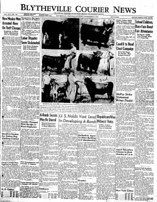 The Courier News from Blytheville, Arkansas on September 24, 1949 · Page 1
