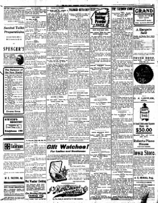 Iola Daily Register And Evening News from Iola, Kansas on December 9, 1907 · Page 5
