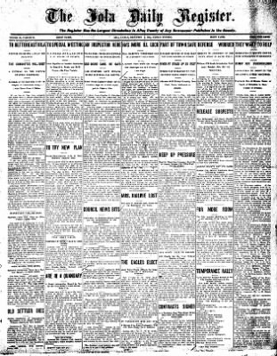 Iola Daily Register And Evening News from Iola, Kansas on December 4, 1908 · Page 1