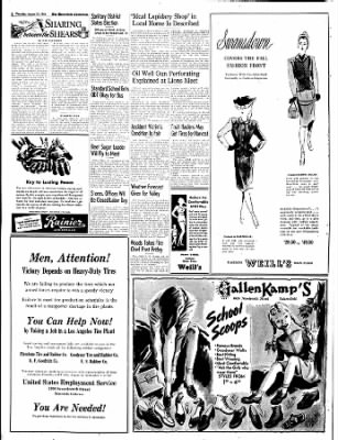 The Bakersfield Californian from Bakersfield, California on August 31, 1944 · Page 8