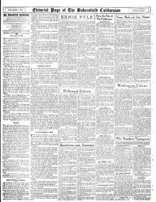 The Bakersfield Californian from Bakersfield, California on September 1, 1944 · Page 16