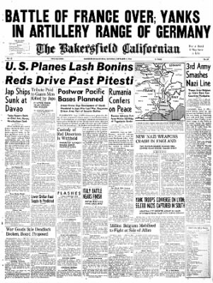The Bakersfield Californian from Bakersfield, California on September 2, 1944 · Page 1