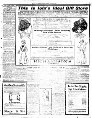 Iola Daily Register And Evening News from Iola, Kansas on December 10, 1908 · Page 3