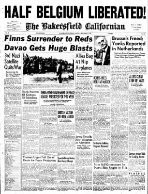 The Bakersfield Californian from Bakersfield, California on September 4, 1944 · Page 1