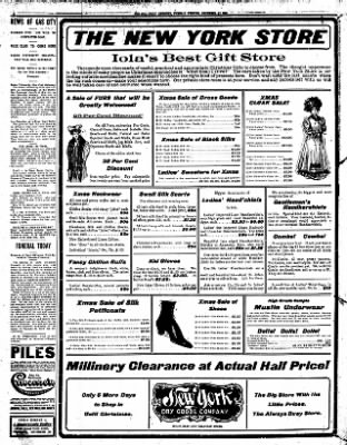 Iola Daily Register And Evening News from Iola, Kansas on December 17, 1907 · Page 6
