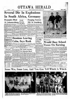 The Ottawa Herald from Ottawa, Kansas on March 9, 1963 · Page 1