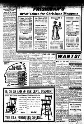 Iola Daily Register And Evening News from Iola, Kansas on December 18, 1907 · Page 8