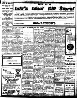 Iola Daily Register And Evening News from Iola, Kansas on December 14, 1908 · Page 3