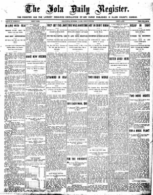 Iola Daily Register And Evening News from Iola, Kansas on December 18, 1908 · Page 1