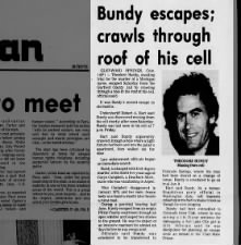 Ted Bundy escapes from Garfield County Jail