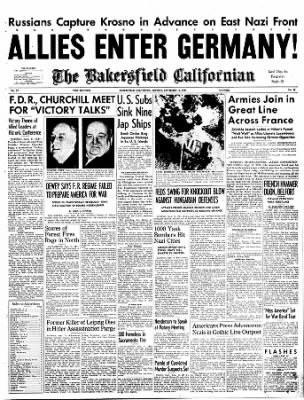 The Bakersfield Californian from Bakersfield, California on September 11, 1944 · Page 1