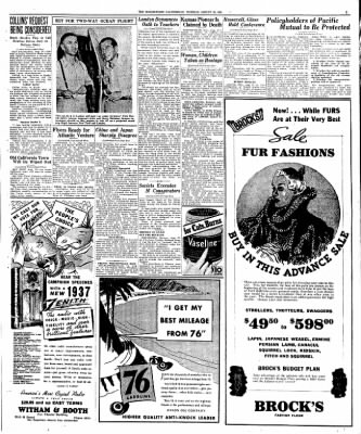 The Bakersfield Californian from Bakersfield, California on August 25, 1936 · Page 3