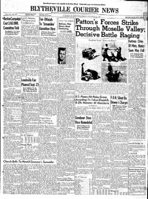 The Courier News from Blytheville, Arkansas on September 8, 1944 · Page 1