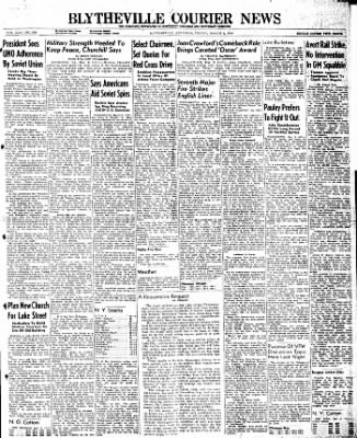 The Courier News from Blytheville, Arkansas on March 8, 1946 · Page 1