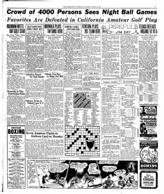 The Bakersfield Californian from Bakersfield, California on August 29, 1936 · Page 9