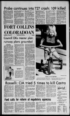 Fort Collins Coloradoan from Fort Collins, Colorado on June 25, 1975