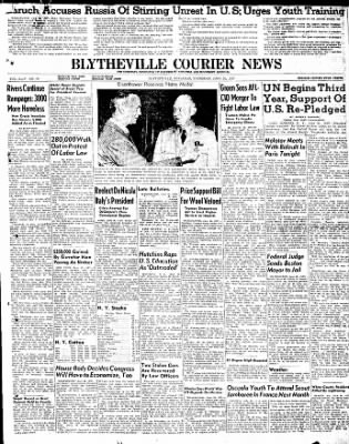 The Courier News from Blytheville, Arkansas on June 26, 1947 · Page 1