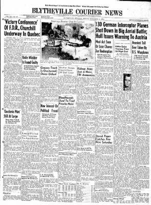 The Courier News from Blytheville, Arkansas on September 11, 1944 · Page 1