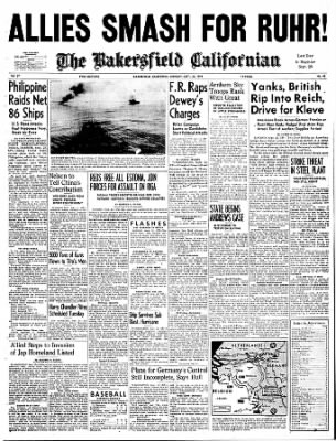 The Bakersfield Californian from Bakersfield, California on September 25, 1944 · Page 1
