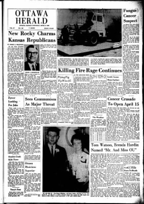 The Ottawa Herald from Ottawa, Kansas on April 6, 1963 · Page 1