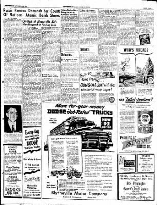 The Courier News from Blytheville, Arkansas on October 12, 1949 · Page 9