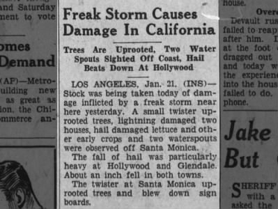 Clip of the Day: Freak Storm Causes Damage in California