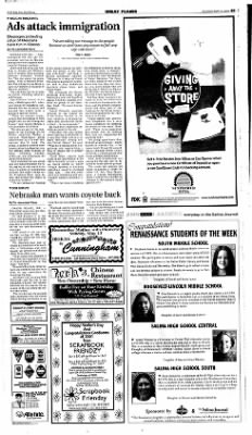 The Salina Journal from Salina, Kansas on May 6, 2001 · Page 13