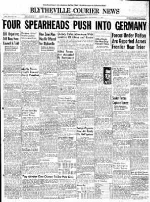 The Courier News from Blytheville, Arkansas on September 13, 1944 · Page 1