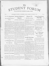Sample The Student Forum front page