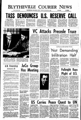 The Courier News from Blytheville, Arkansas on January 26, 1968 · Page 1