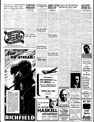 The Bakersfield Californian from Bakersfield, California on October 9, 1944 · Page 4
