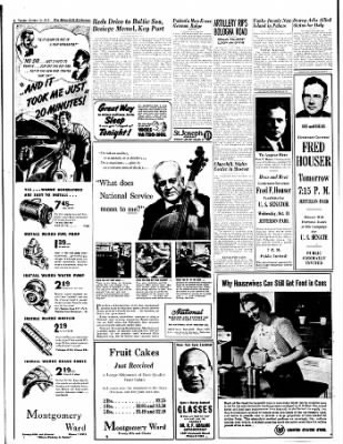 The Bakersfield Californian from Bakersfield, California on October 10, 1944 · Page 4