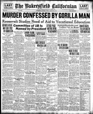 The Bakersfield Californian from Bakersfield, California on September 22, 1936 · Page 1