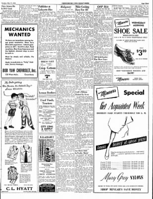 Greensburg Daily News from Greensburg, Indiana on May 27, 1952 · Page 15