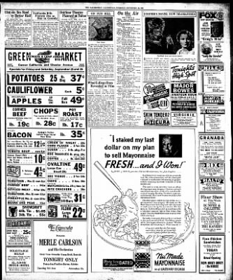 The Bakersfield Californian from Bakersfield, California on September 24, 1936 · Page 11