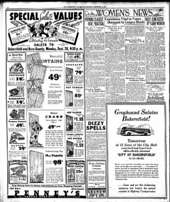 The Bakersfield Californian from Bakersfield, California on September 24, 1936 · Page 16