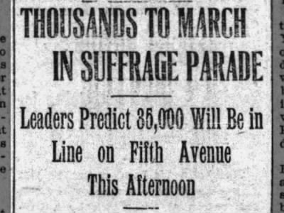 Clip of the Day: Suffrage March in New York City