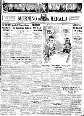 The Morning Herald from Hagerstown, Maryland on January 1, 1938 · Page 1