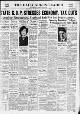Argus-Leader from Sioux Falls, South Dakota on June 28, 1938 · Page 1