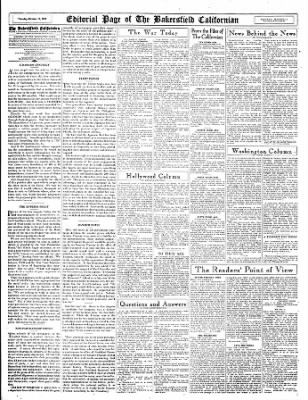 The Bakersfield Californian from Bakersfield, California on October 19, 1944 · Page 22