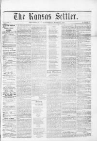 Sample The Kansas Settler front page
