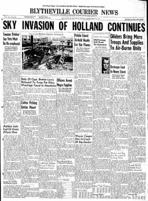 The Courier News from Blytheville, Arkansas on September 18, 1944 · Page 1